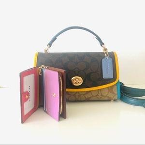 Coach Tilly Colorblock Signature Purse Wallet Set